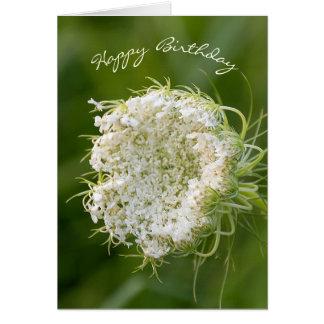 Cartão Macro do laço de Anne da aniversário-Rainha