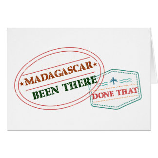 Cartão Madagascar feito lá isso