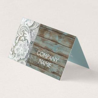 Cartão madeira azul do celeiro do laço branco rústico