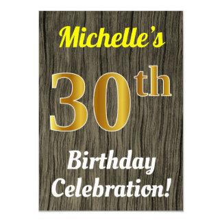 Cartão Madeira do falso, celebração do aniversário de 30