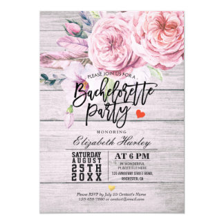 Cartão Madeira rústica floral da aguarela da festa de