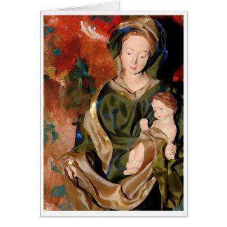 Cartão Madonna & bebê Jesus