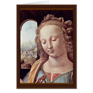 Cartão Madonna com o cravo por Leonardo da Vinci