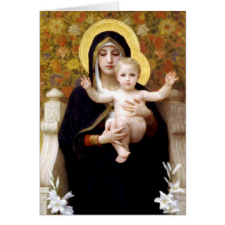 Cartão Madonna & criança pelo Natal religioso de