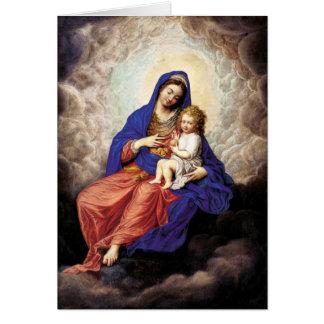 Cartão Madonna e criança na glória