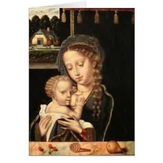 Cartão Madonna e cuidados da criança
