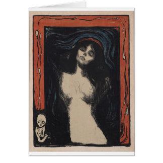 Cartão Madonna por Edvard Munch, pintor do symbolist