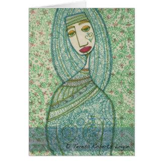 Cartão Madonna verde
