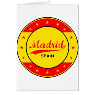 Cartão Madrid, Spain, circle, red