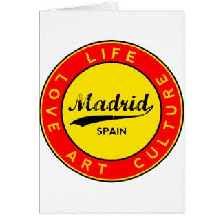 Cartão Madrid, Spain, red circle, art