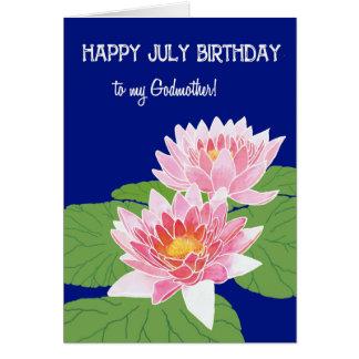 Cartão Madrinha cor-de-rosa bonito do aniversário de