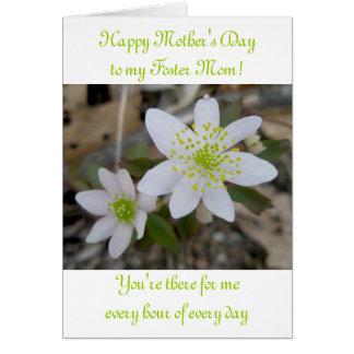 Cartão Mãe adoptiva do dia das mães feliz da anêmona