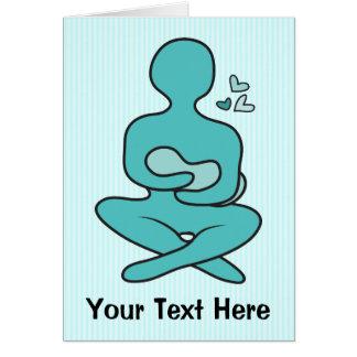 Cartão Mãe & bebê amamentando