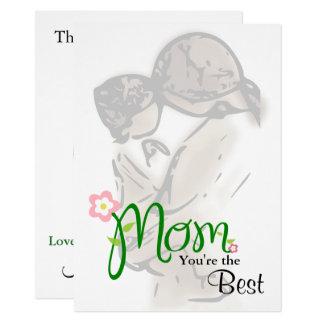 Cartão Mãe & criança com texto feito sob encomenda &