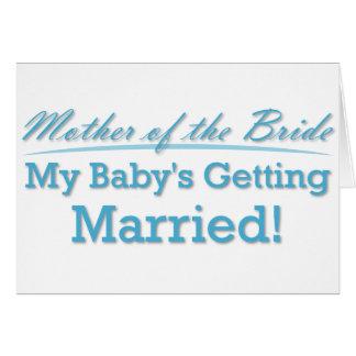 Cartão Mãe da noiva