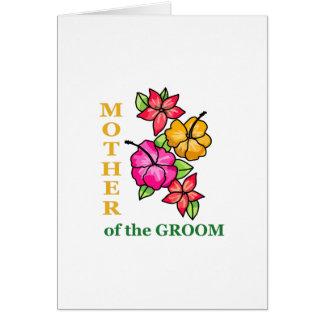 Cartão Mãe do noivo