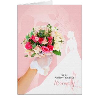 Cartão Mãe dos parabéns da noiva no rosa