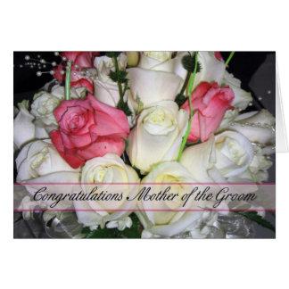 Cartão Mãe dos parabéns do noivo