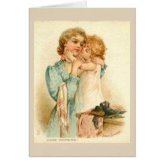 Cartão Mãe e bebê,