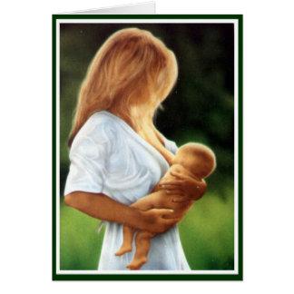 Cartão Mãe e criança