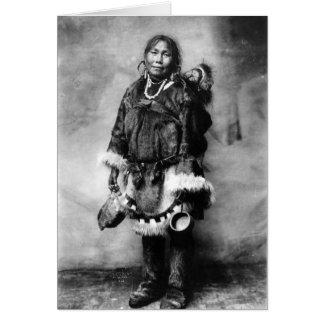 Cartão Mãe e criança Eskimo