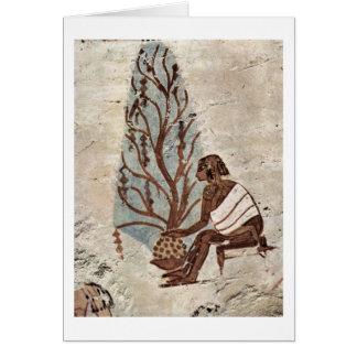 Cartão Mãe e criança pelo pintor da câmara grave