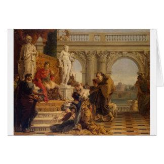 Cartão Maecenas que apresenta as humanidades ao imperador
