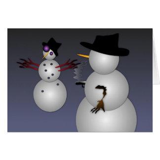 Cartão Máfia do boneco de neve