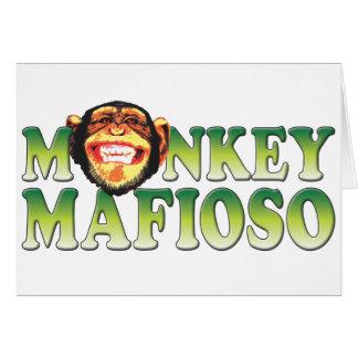 Cartão Mafioso do macaco