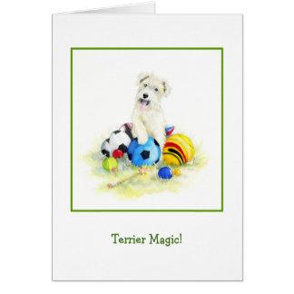 Cartão Mágica de Terrier