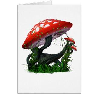 Cartão Mágica do cogumelo