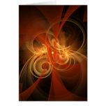 Cartão mágico da arte abstracta da manhã