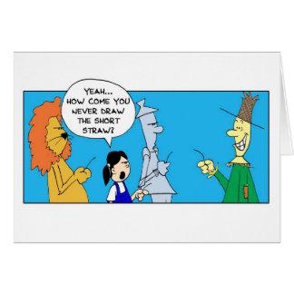 Cartão Mágico de Oz - palha curta
