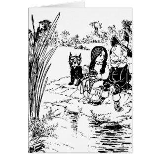 Cartão Mágico de Oz Toto, Dorothy e espantalho