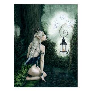 Cartão mágico do duende da floresta