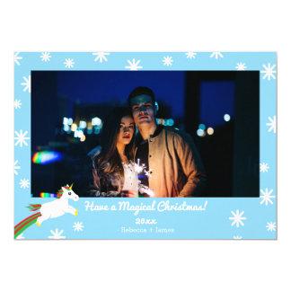 Cartão mágico do feriado do quadro do unicórnio do