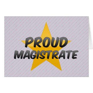 Cartão Magistrado orgulhoso