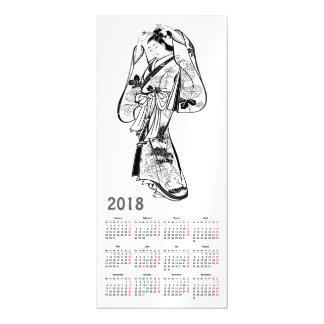 Cartão Magnético 2018 japoneses do vintage do calendário imprimem o
