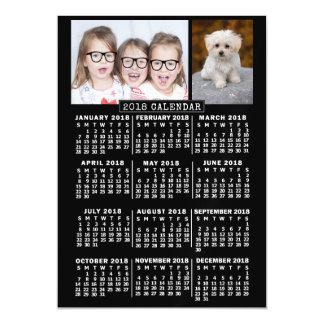 Cartão Magnético 2018 modelo mensal da foto do preto | do