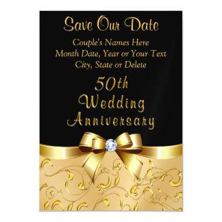 Cartão Magnético 50th Imã salve o dia do aniversário de casamento