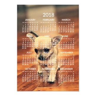 Cartão magnético 5x7 da foto do calendário da