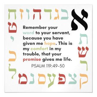 Cartão Magnético A bíblia verses do salmo 119 em um ímã
