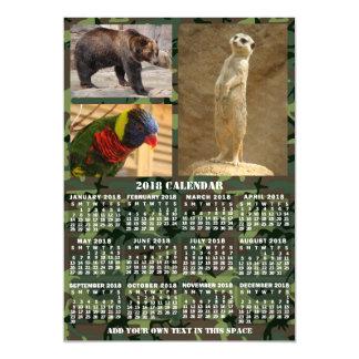 Cartão Magnético A camuflagem mensal do calendário de 2018 anos