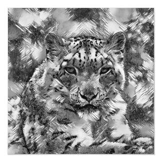 Cartão Magnético AnimalArtBW_Leopard_20170601_by_JAMColors