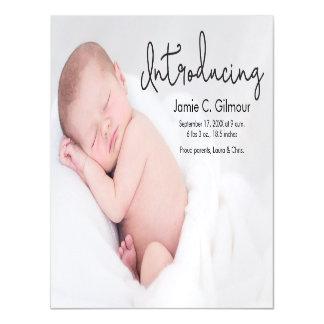 Cartão Magnético Anúncio feito sob encomenda do nascimento do bebê