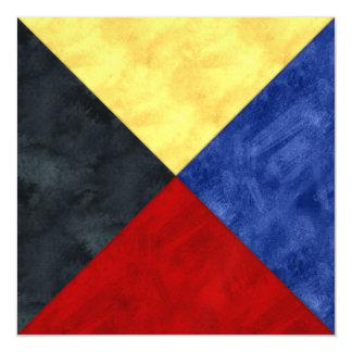 Cartão Magnético Bandeira marítima do sinal náutico da aguarela