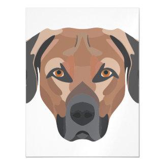 Cartão Magnético Cão Brown Labrador da ilustração