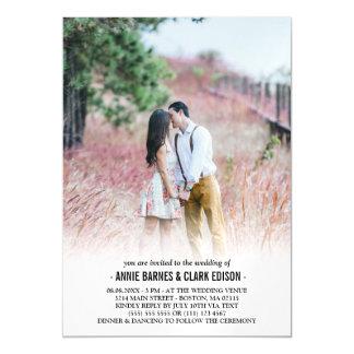 Cartão Magnético Casamento minimalista romântico da foto
