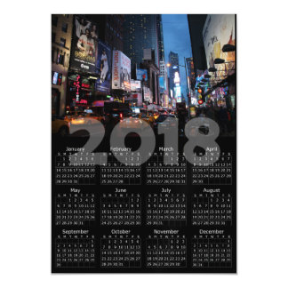 Cartão magnético da Nova Iorque de 2018