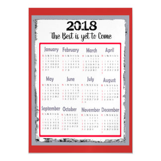 Cartão magnético de 2018 calendários para seu